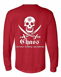 Long Sleeve Pirate T-Shirt Red