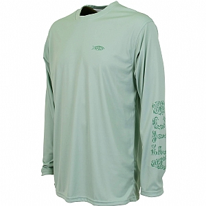 AFTCO Red Alert Long Sleeve Performance Shirt Moonstone
