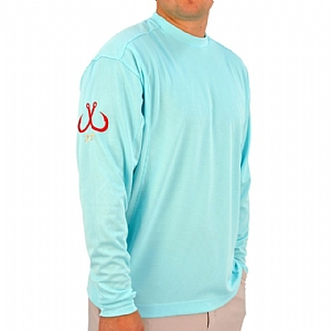 Mens Light Weight Crew Neck Performance Aqua