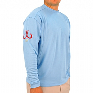 Mens Light Weight Crew Neck Performance Sky Blue