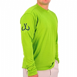 Mens Light Weight Crew Neck Performance Lime