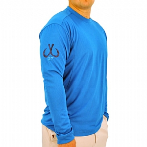 Mens Light Weight Crew Neck Performance Blue