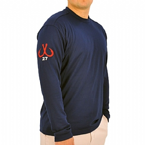 Mens Light Weight Crew Neck Performance Navy