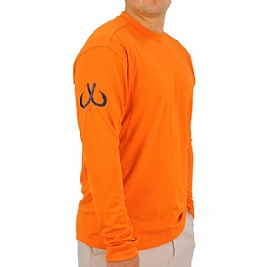 Mens Light Weight Crew Neck Performance Orange