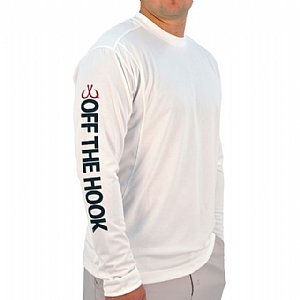 Mens Light Weight Crew Neck Performance White