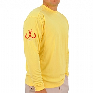 Mens Light Weight Crew Neck Performance Yellow