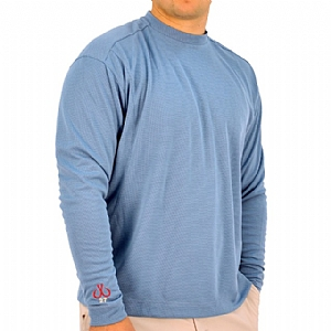 Mens Medium Weight Crew Neck Performance Bridgehampton Blue