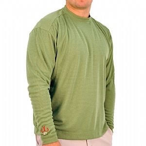 Mens Medium Weight Crew Neck Performance Green