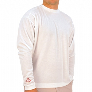 Mens Medium Weight Crew Neck Performance White