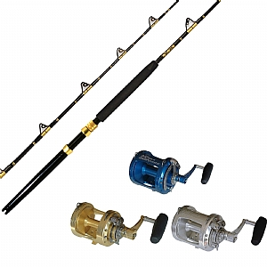 STA 30-50 6' CHAOS Gold with AVET PRO EXW 50/2 Reel- You pick the color