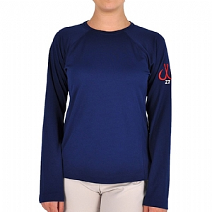 Woman's Long Sleeve Performance Crew Navy