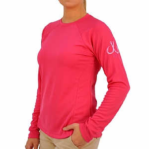 Woman's Long Sleeve Performance Crew Pink