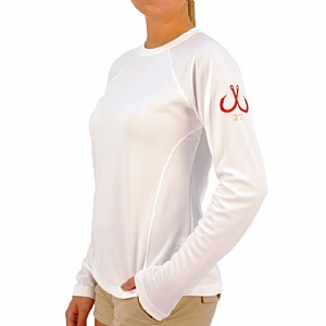 Woman's Long Sleeve Performance Crew White