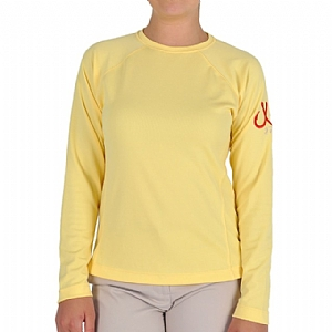 Woman's Long Sleeve Performance Crew Yellow