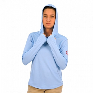 Woman's Performance Hoodie Sky Blue