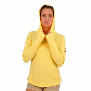 Woman's Performance Hoodie Yellow