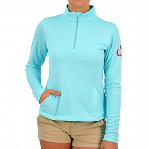 Woman's Performance 1/4 Zip-up Aqua