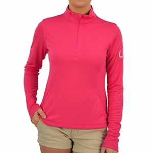 Woman's Performance 1/4 Zip-up Pink