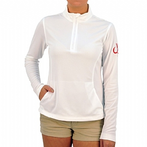 Woman's Performance 1/4 Zip-up White