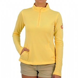 Woman's Performance 1/4 Zip-up Yellow
