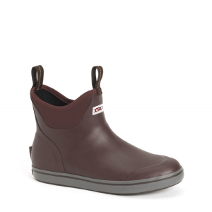 XTRATUF Mens Ankle Deck Boot Maroon