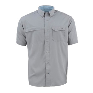 Huk Tide Point Woven Solid Short Sleeve Shirt