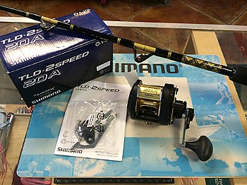 Shimano TLD 20A II-Speed Reel w/ CHAOS STA 30-50 Stand-up Rod COMBO