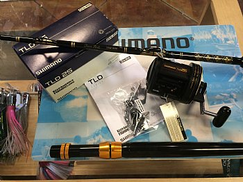 Show product details for Shimano TLD 25 Reel--CHAOS STA 30-50 Stand-up Rod COMBO