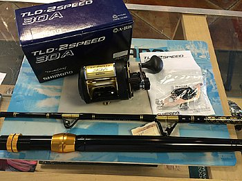 Shimano TLD 30A II-Speed Reel w/ CHAOS STA 30-50 Stand-up Rod COMBO