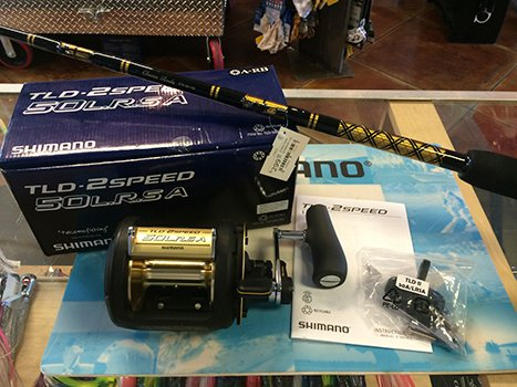 Shimano tld 50 ii speed reel w chaos sta 50 100 stand up for Chaos fishing rods