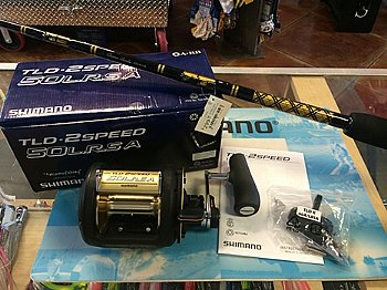 Shimano TLD 50 II-Speed Reel w/ CHAOS STA 50-100 Stand-up Rod COMBO