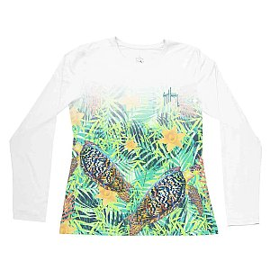 Guy Harvey Womans Turtle Meadows Performance Shirt